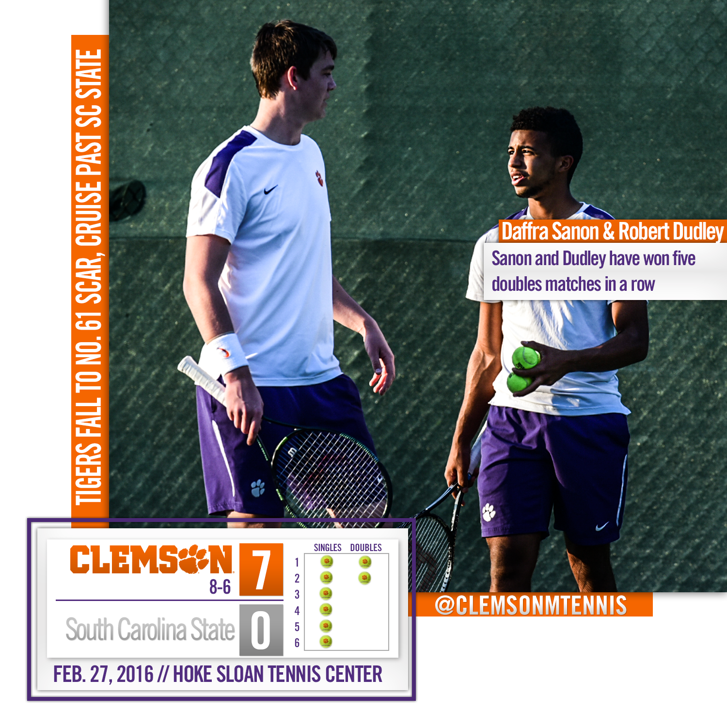 Tigers Fall to South Carolina, Cruise Past SC State