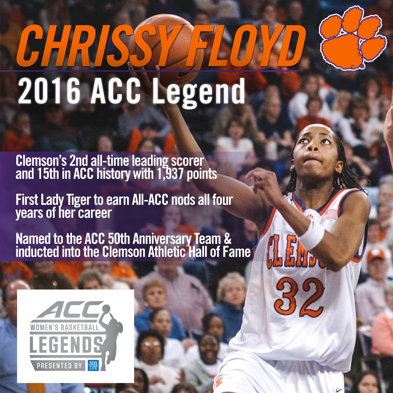 Chrissy Floyd Named ACC Legend