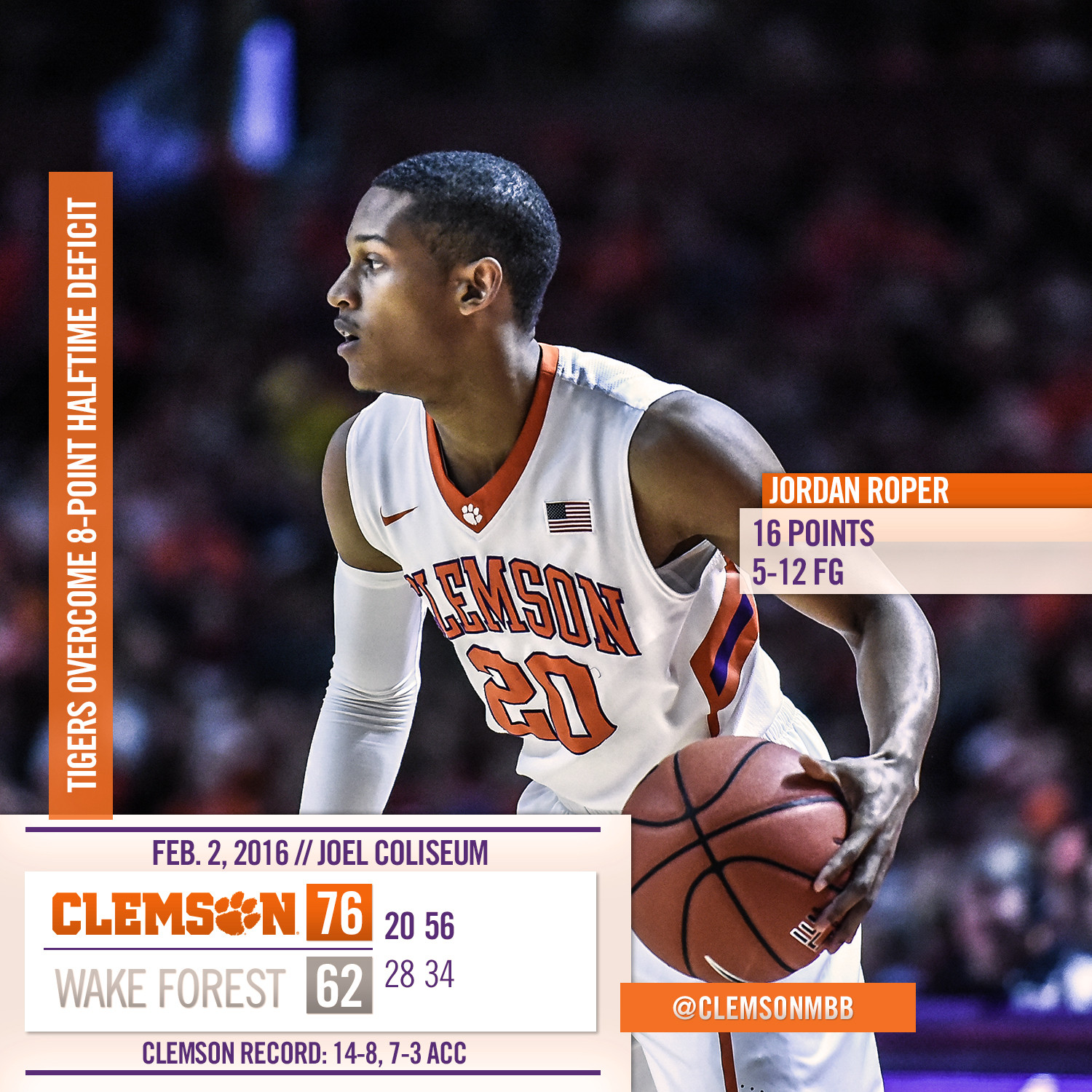 Record Half Leads to Win at Wake