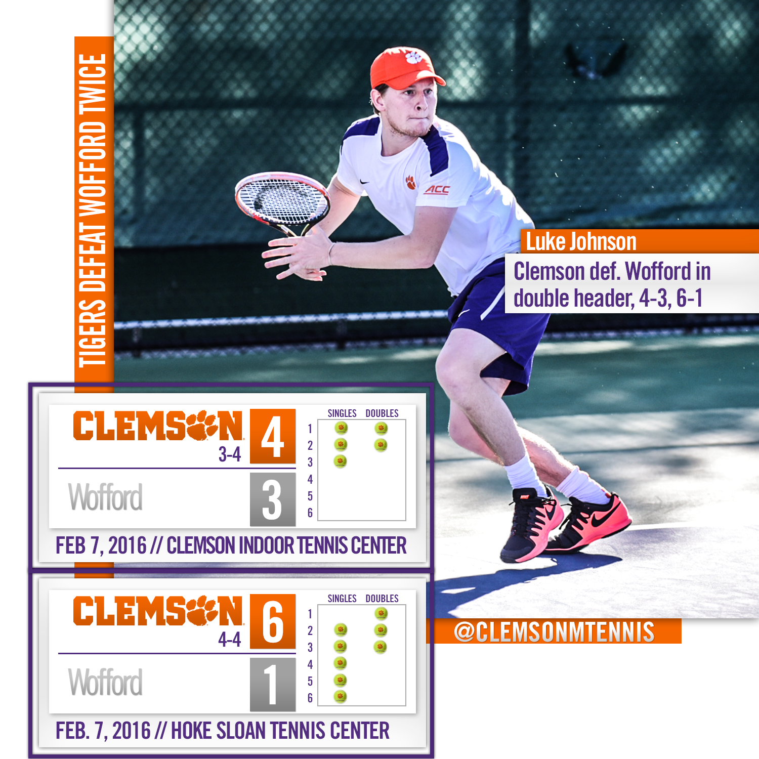 Tigers Defeat Wofford Twice