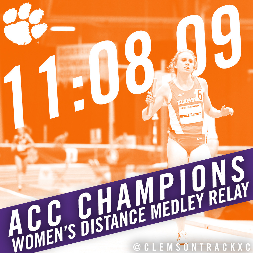Women?s DMR Claims Gold To Kick Off ACC Championships
