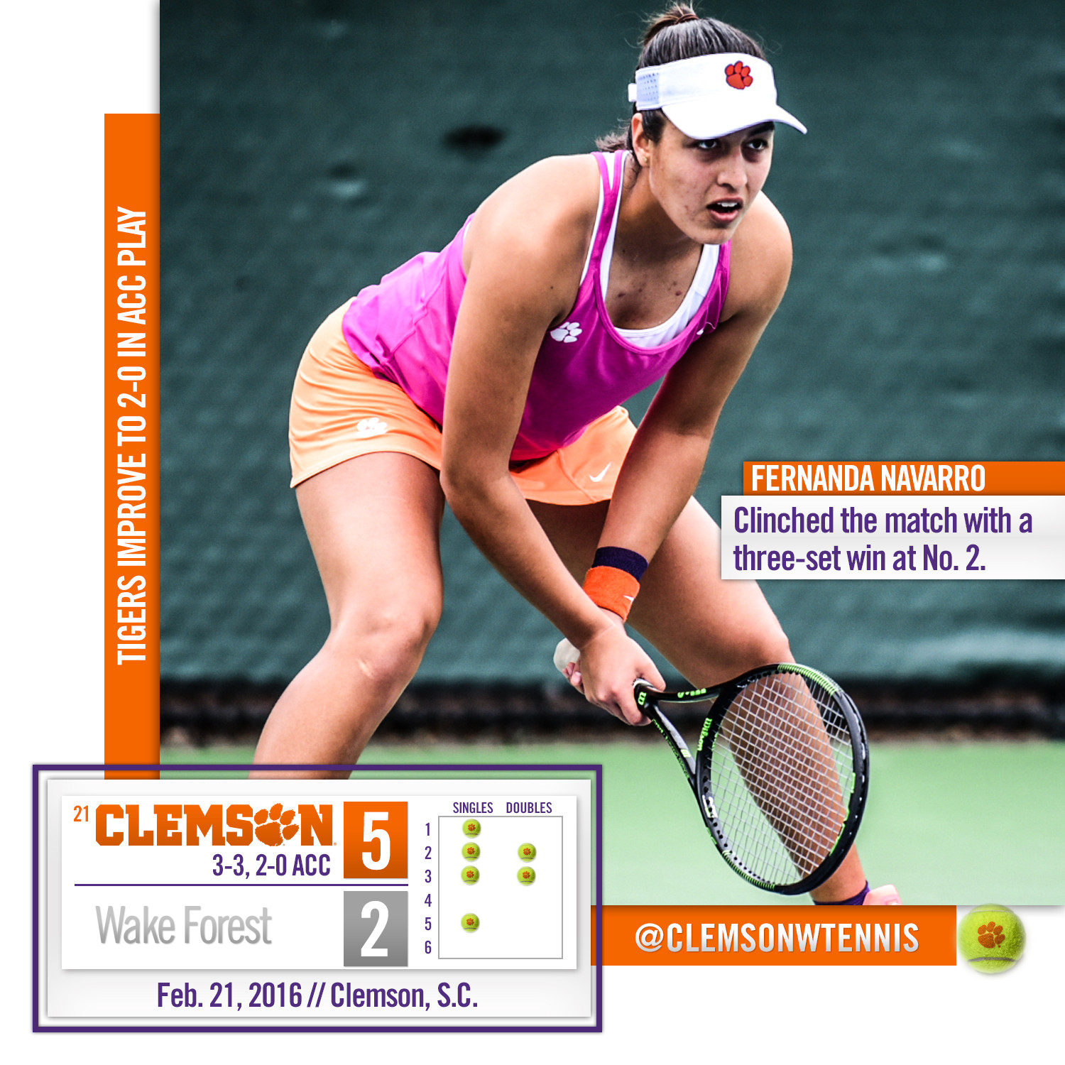 Tigers Rebound for 5-2 Win over Wake Forest Sunday