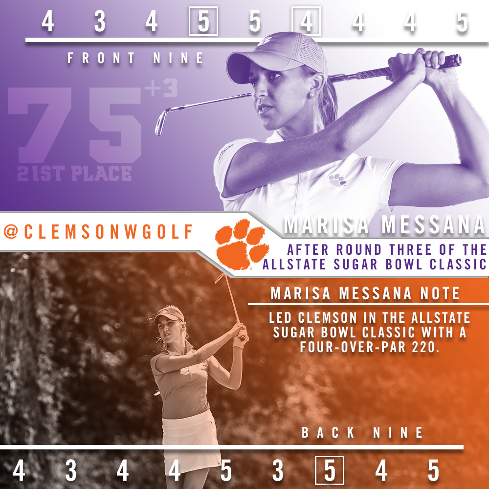 Messana Leads Clemson In New Orleans