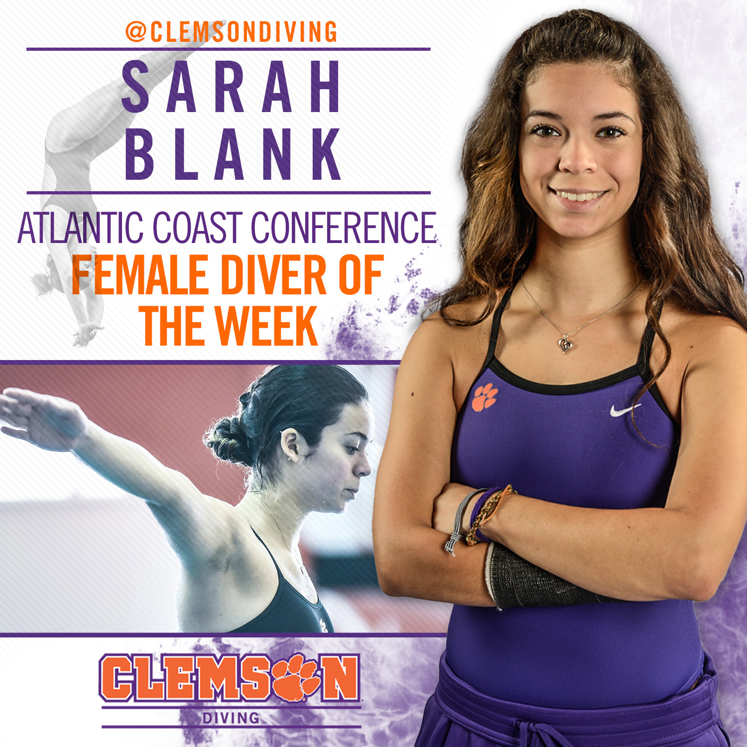 Blank Earns ACC Diver of the Week Honors