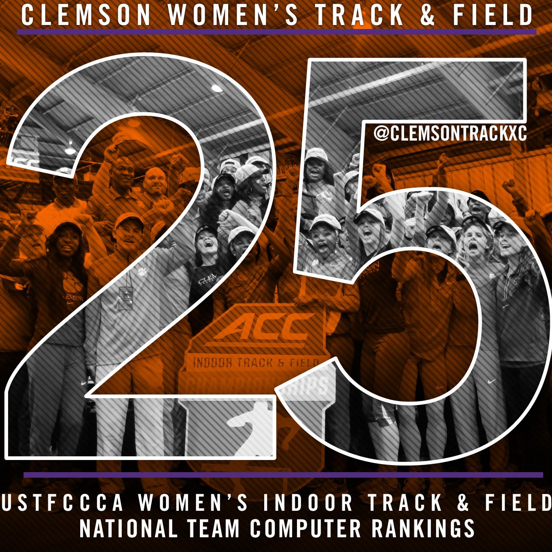 Women's Track Breaks Into Nation's Top 25