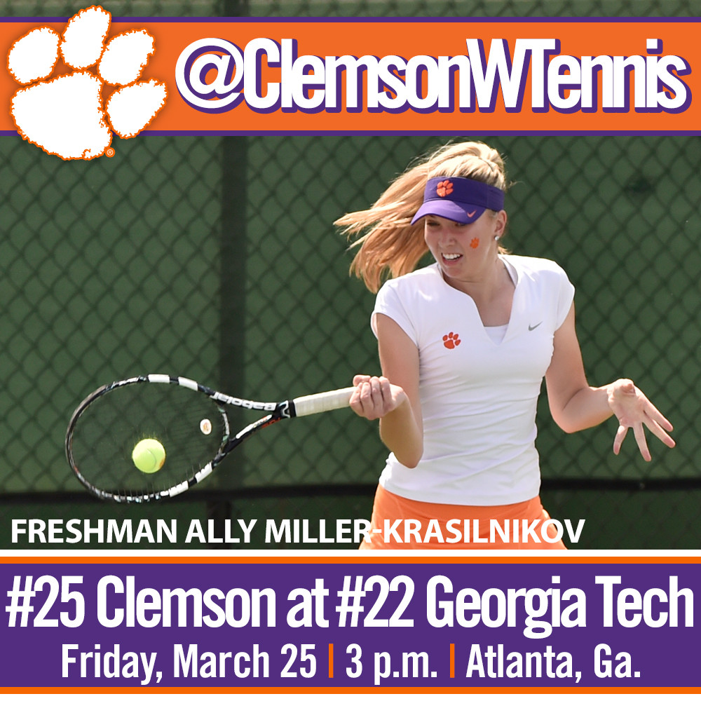 #25 Tigers Travel to #22 Georgia Tech & Louisville This Weekend