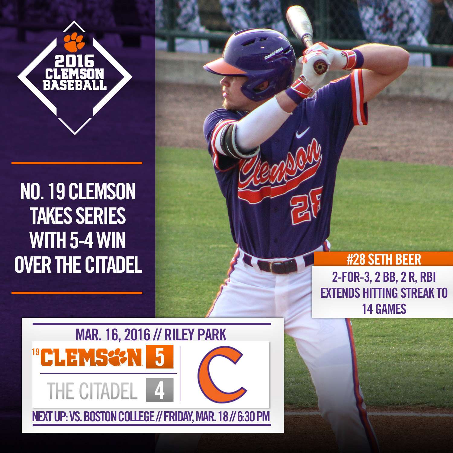 No. 19 Tigers Top Bulldogs 5-4