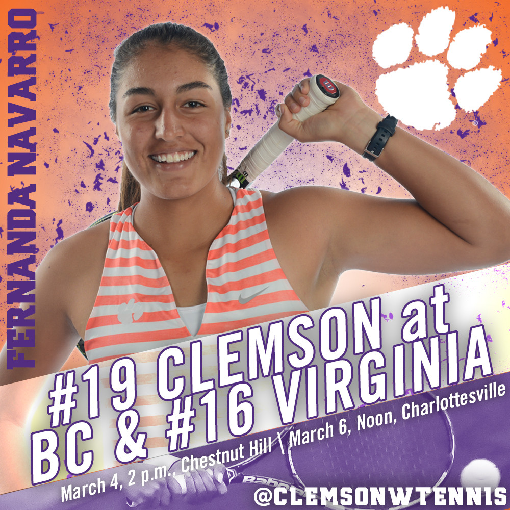 Tigers Travel to Boston College & Virginia This Weekend