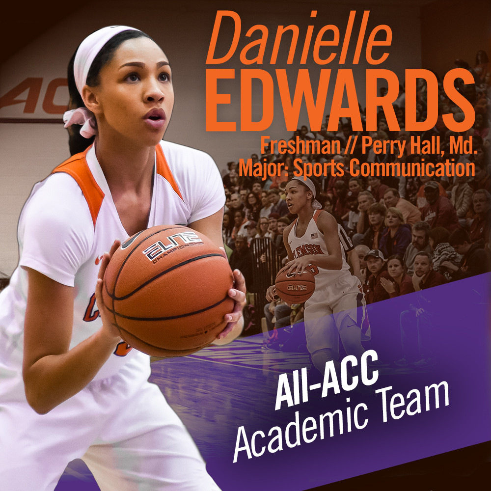 Danielle Edwards Named to All-ACC Academic Team