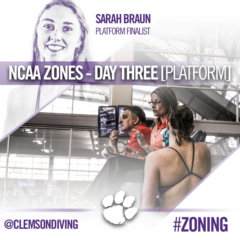 Braun Advances to Platform Finals at NCAA Zone B Championships