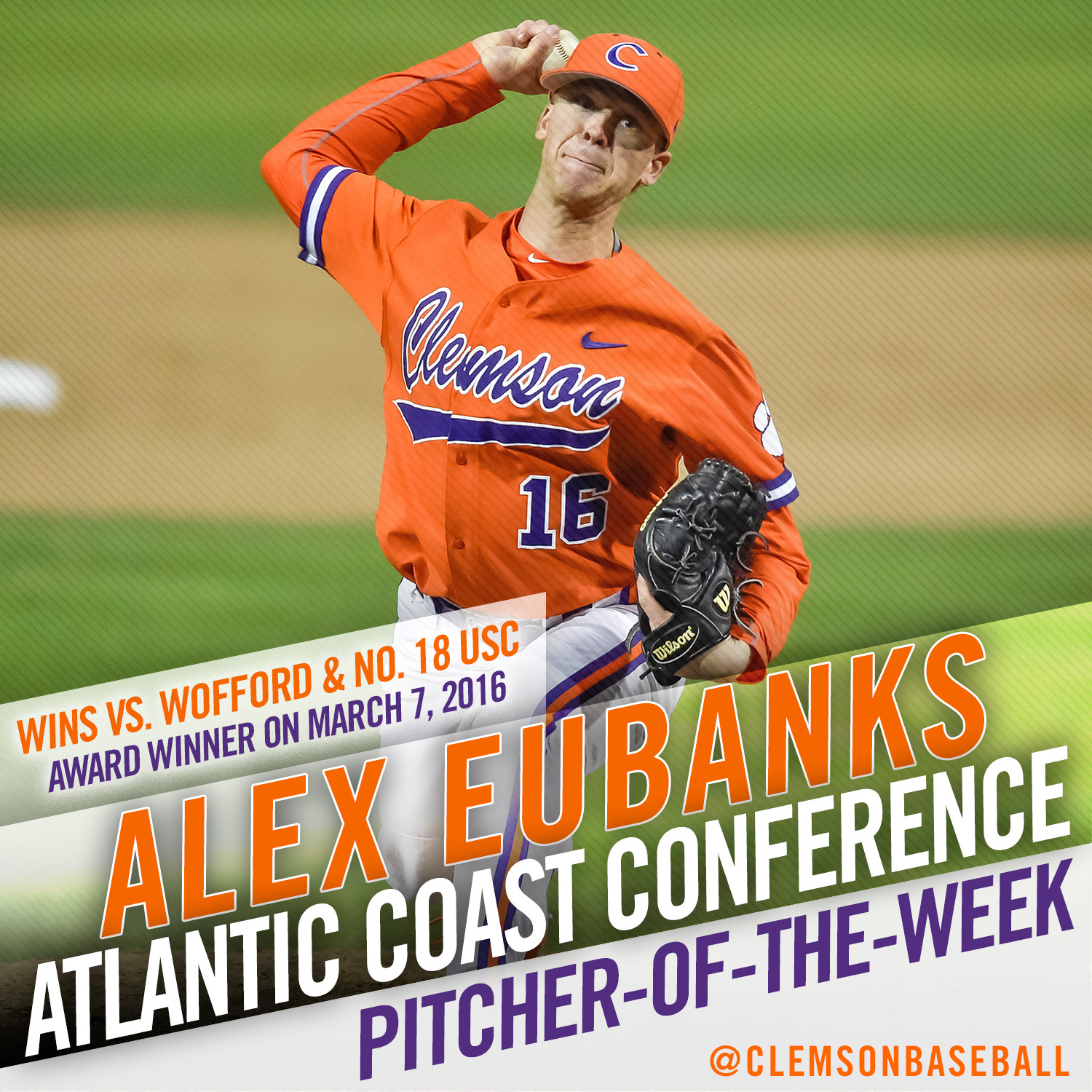 Eubanks Gets ACC Weekly Honor