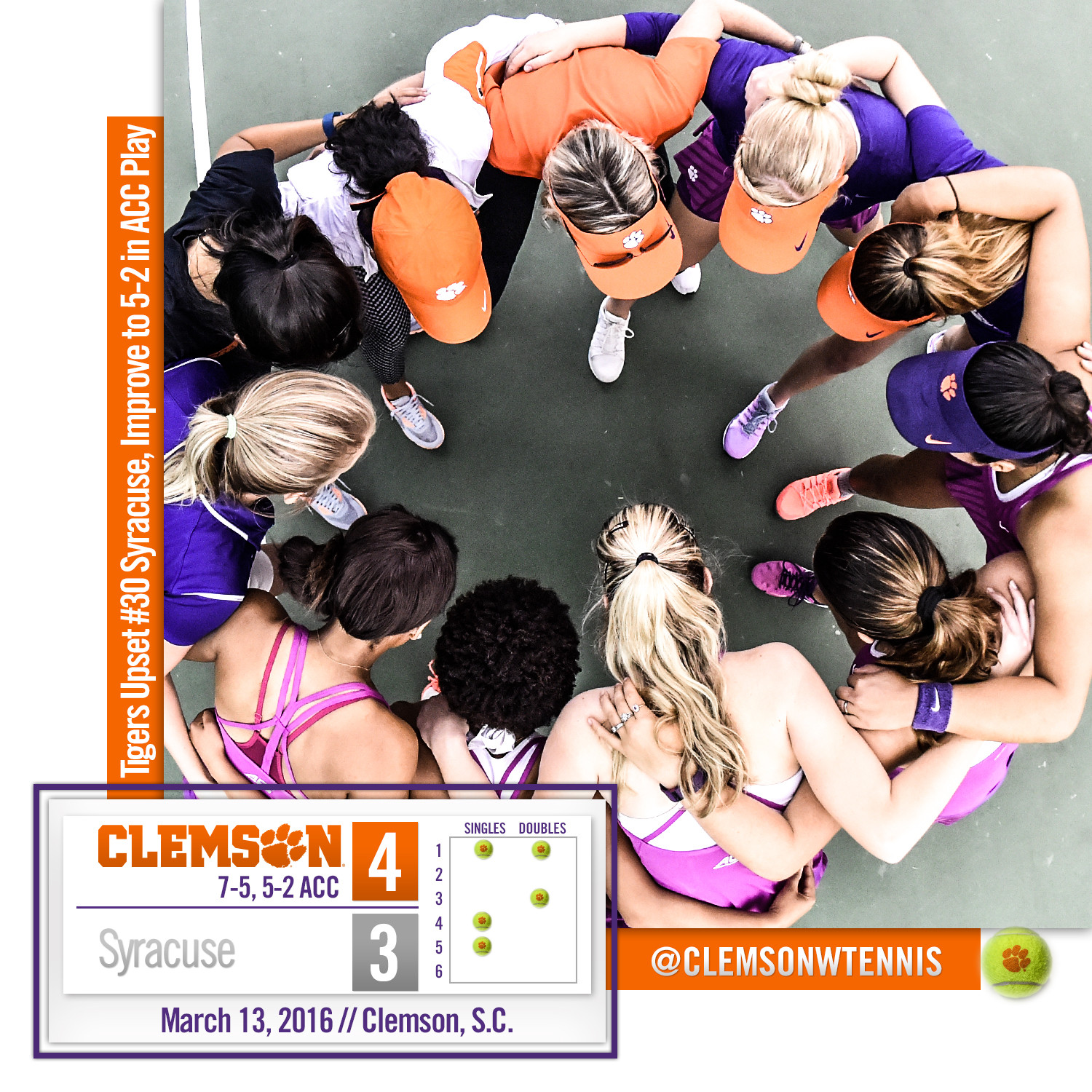 Tigers Upset #30 Syracuse Sunday in Clemson