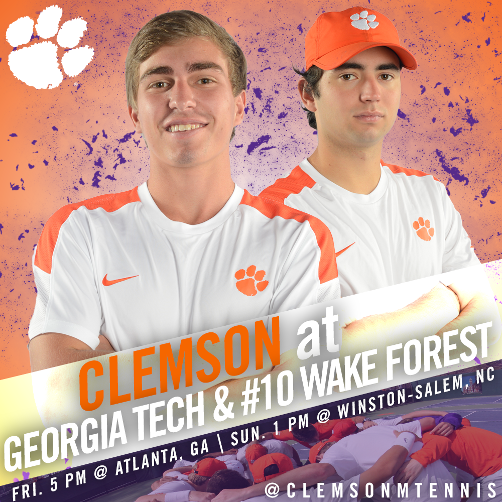 Clemson Travels to Georgia Tech Friday, #10 Wake Forest Sunday