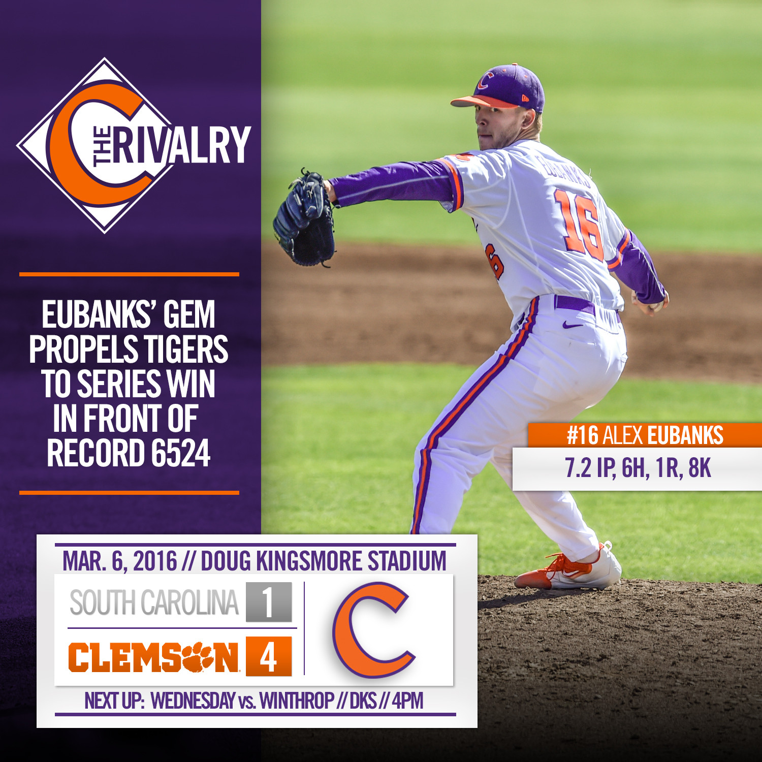 Tigers Outlast No. 18 USC 4-1