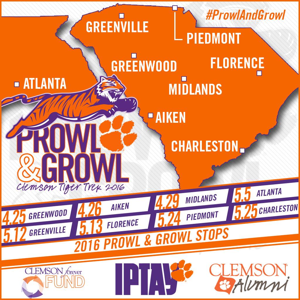 Prowl & Growl Coaches' Tour Begins Next Week!