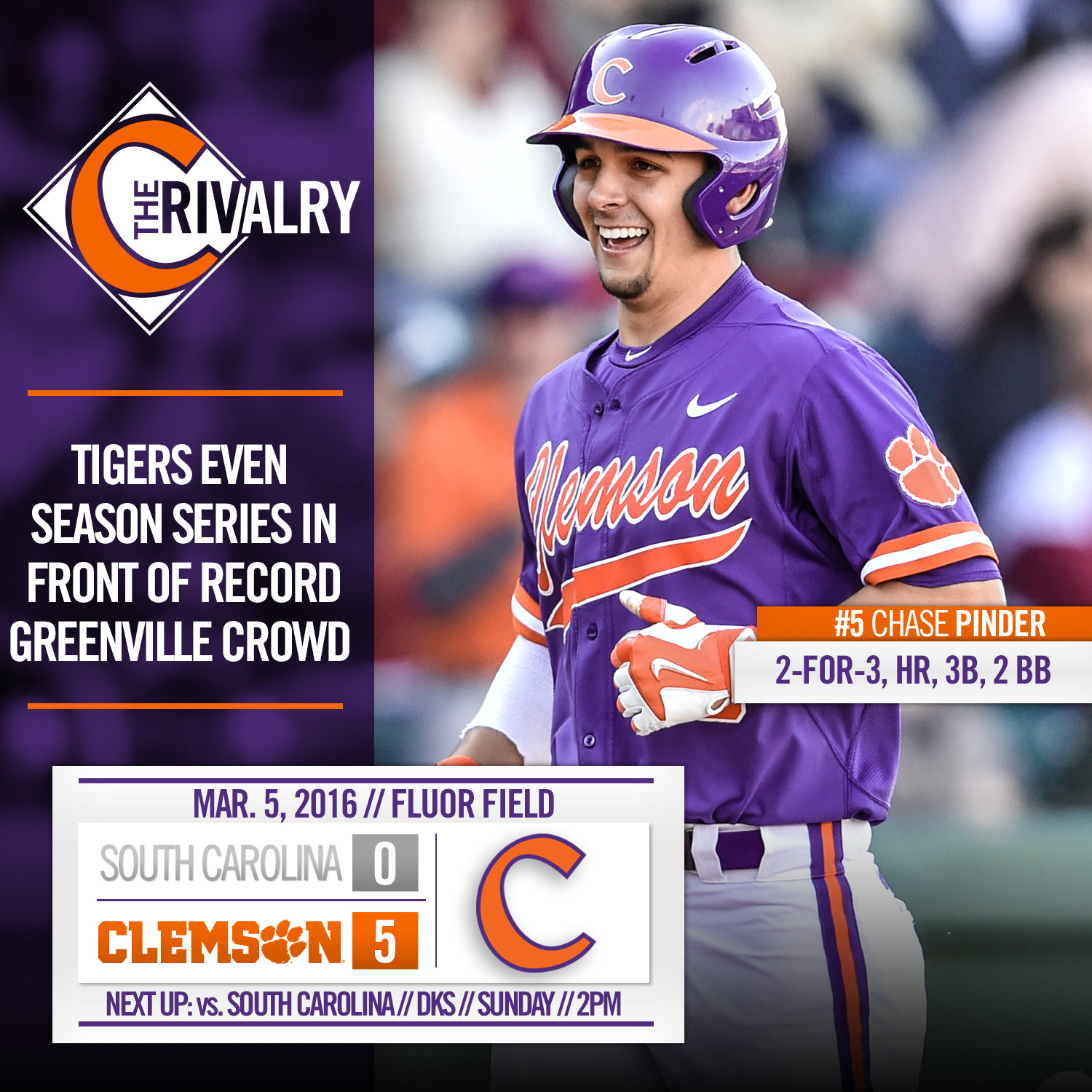 Tigers Defeat No. 18 USC 5-0
