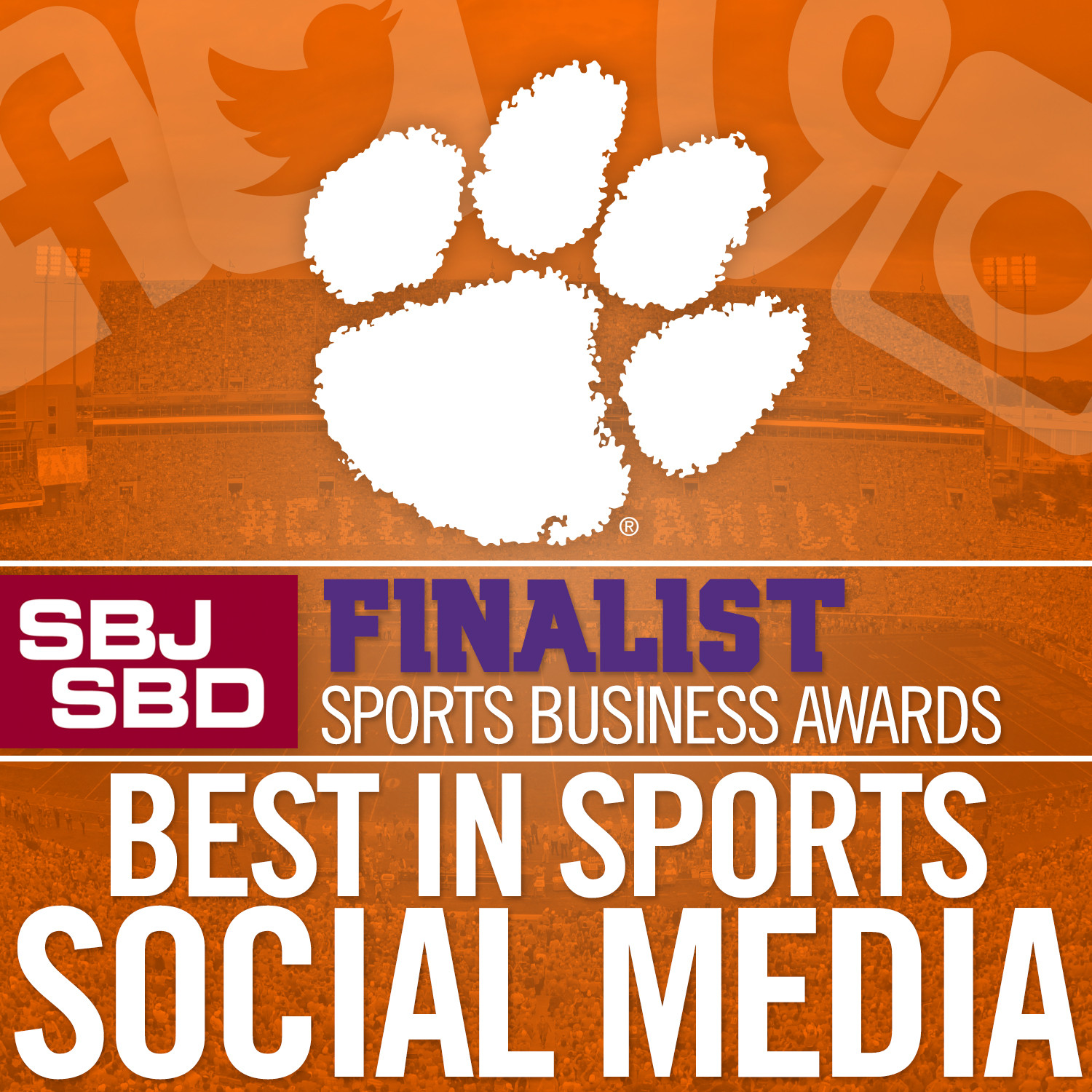 Social Media Team Named Finalist for Sports Business Award