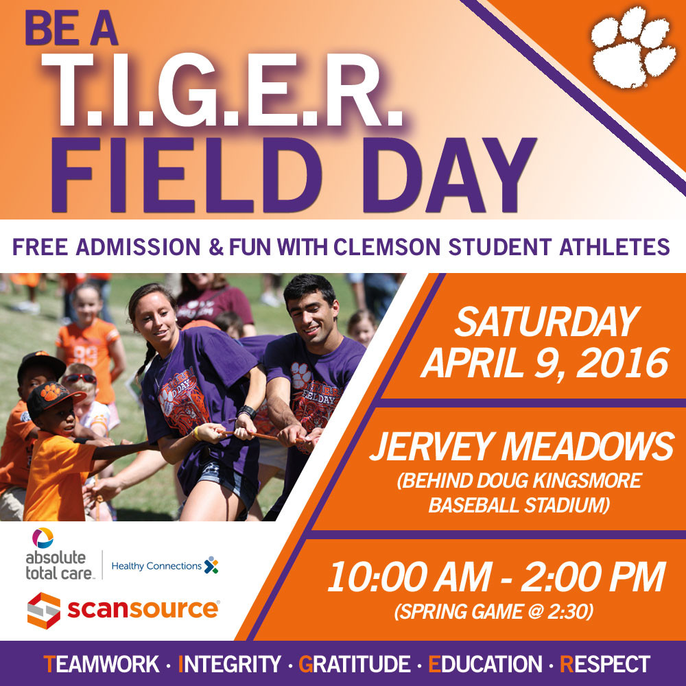 Be a T.I.G.E.R. Field Day 2016