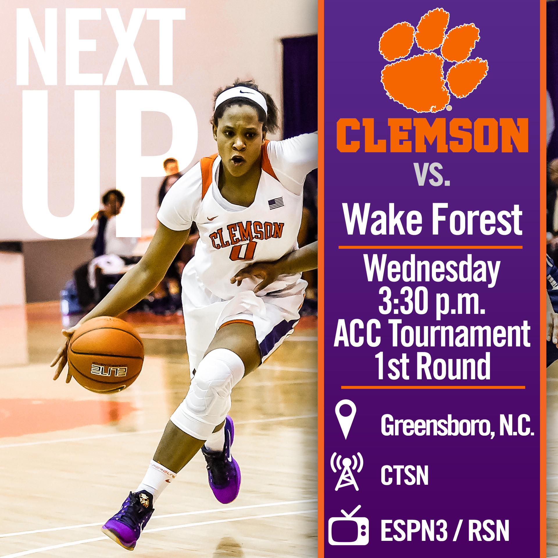 Tigers Face Wake Forest in First Round of ACC Tournament