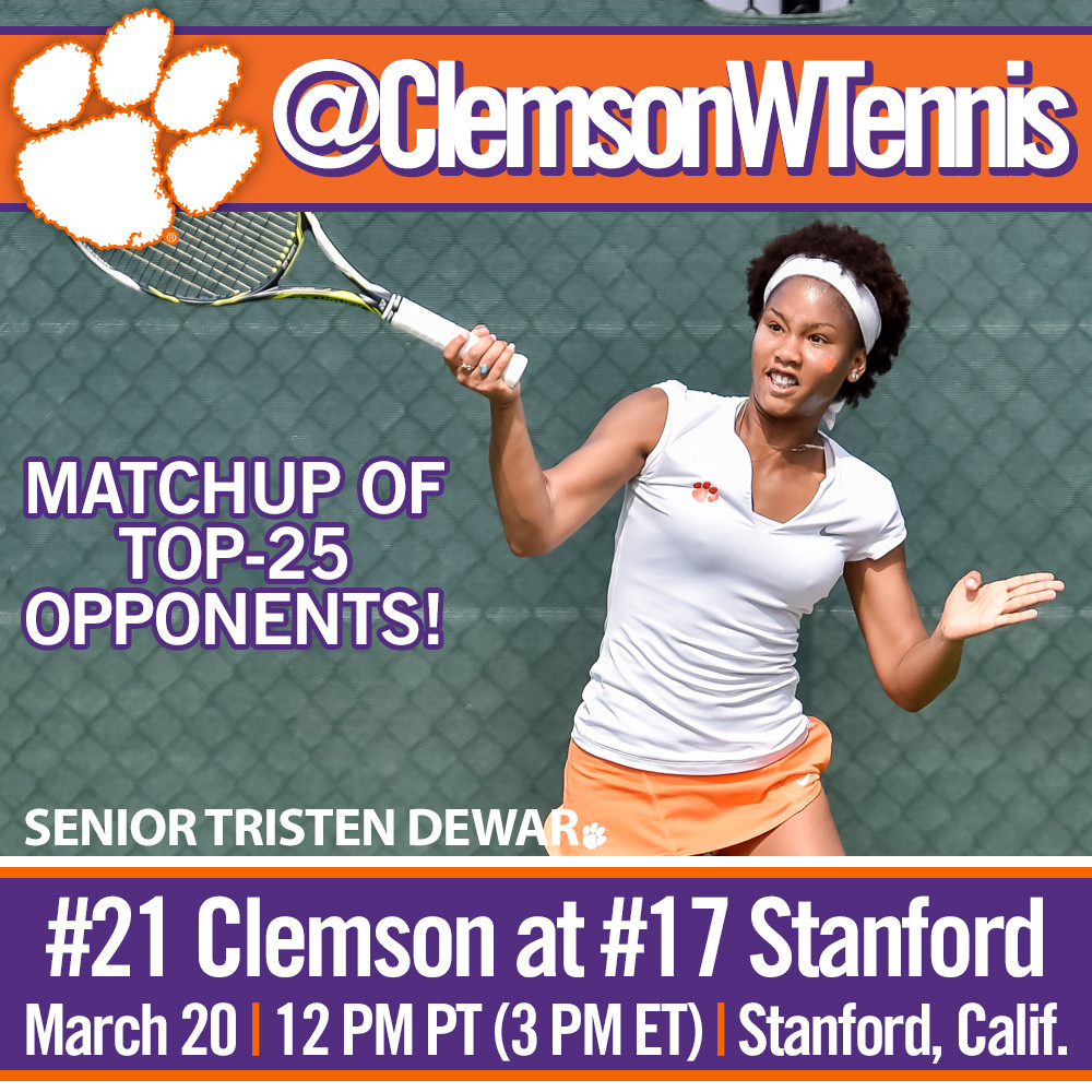 #21 Tigers Face #17 Stanford Sunday on the Road