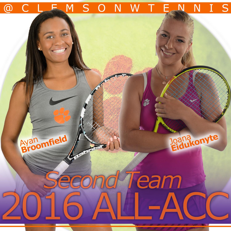 Broomfield & Eidukonyte Earn All-ACC Honors
