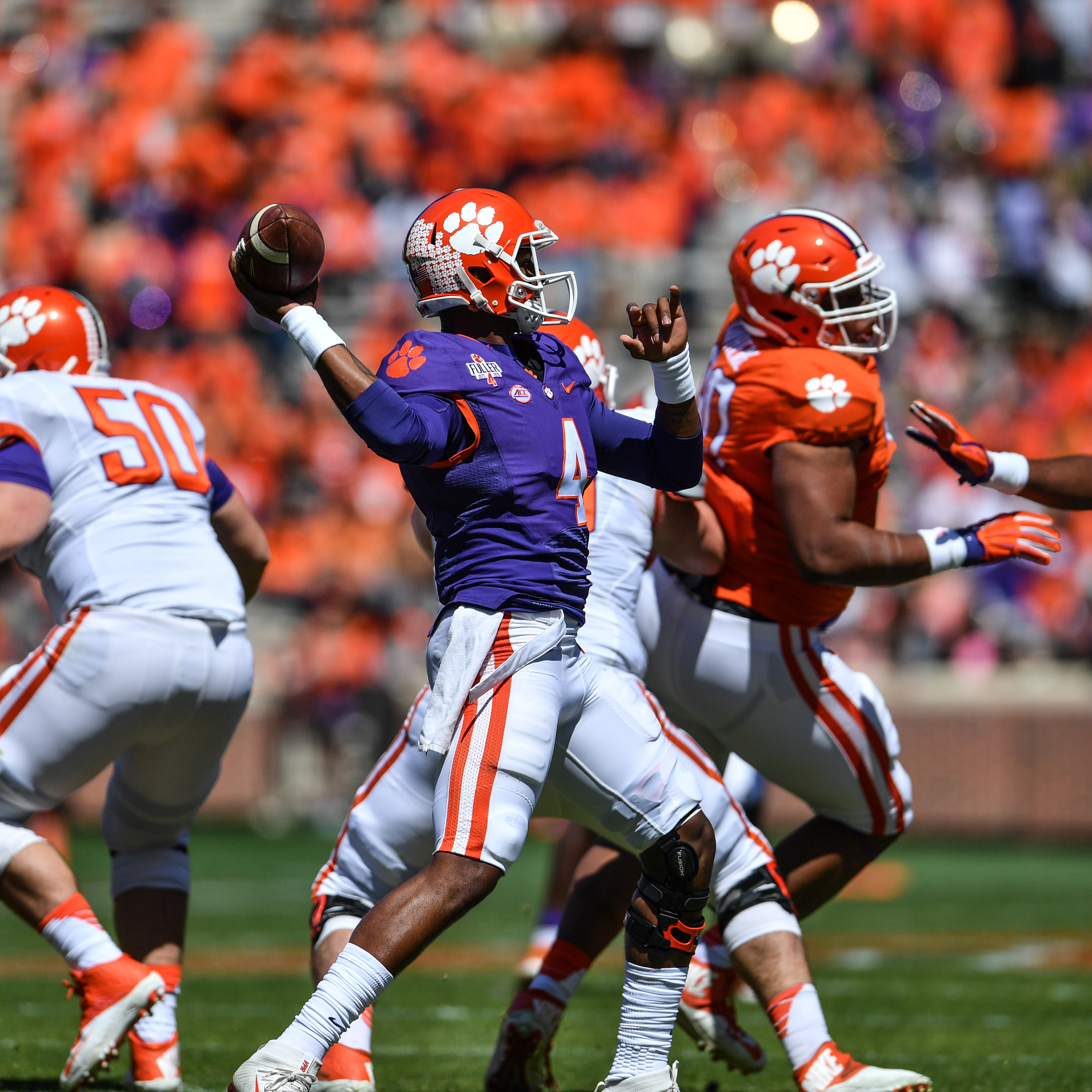 Watson Throws Two Scores in Spring Game