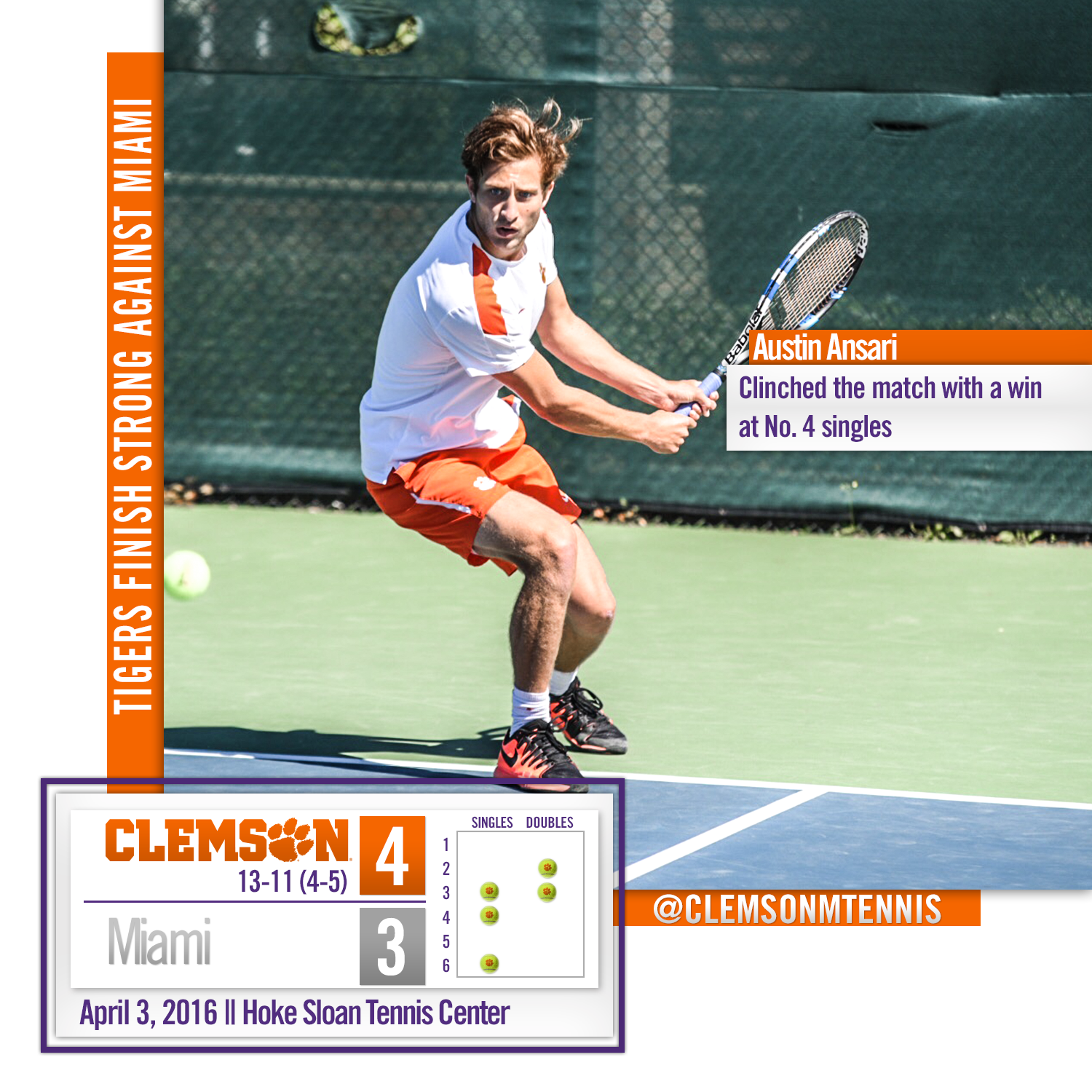 Tigers Finish Strong Against Miami Sunday