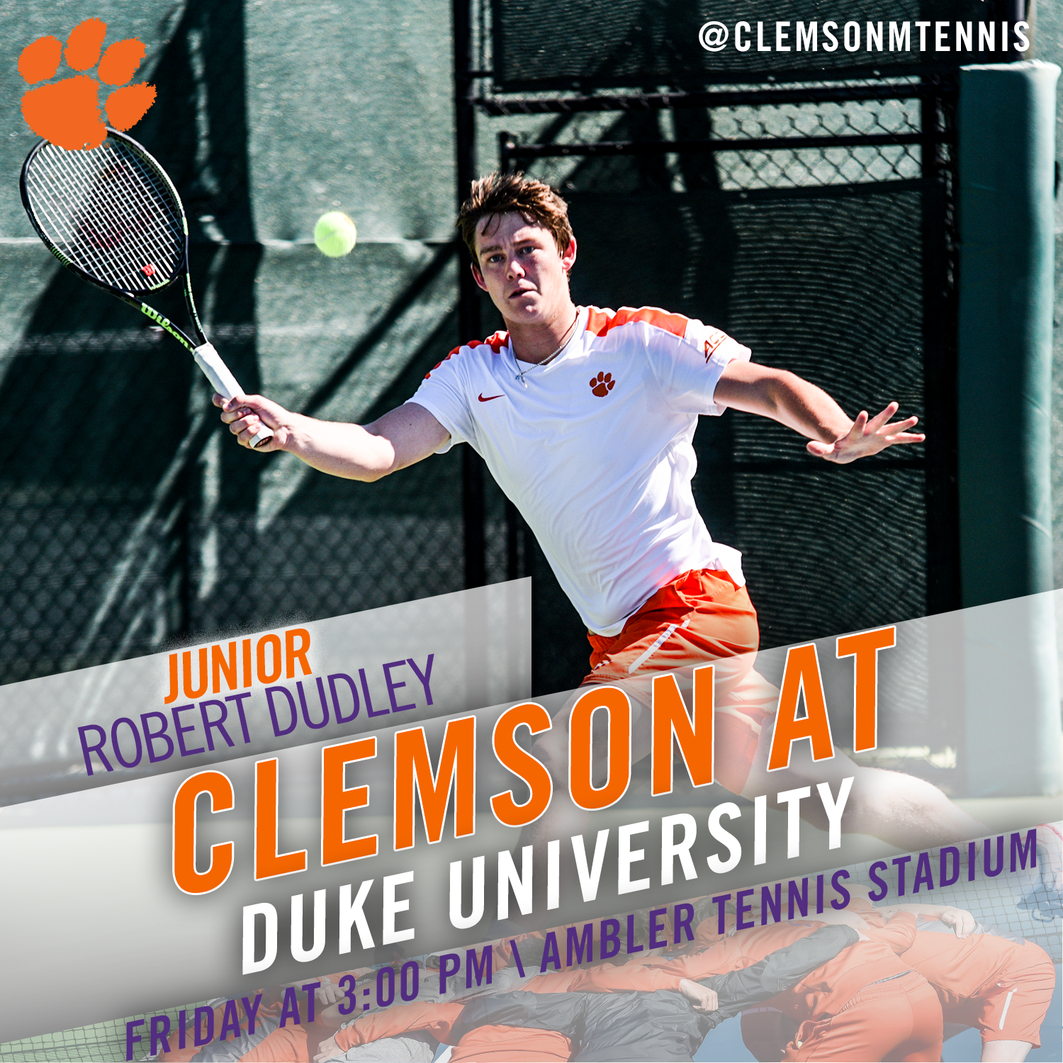 Tigers Travel to Duke for Final ACC Match Friday