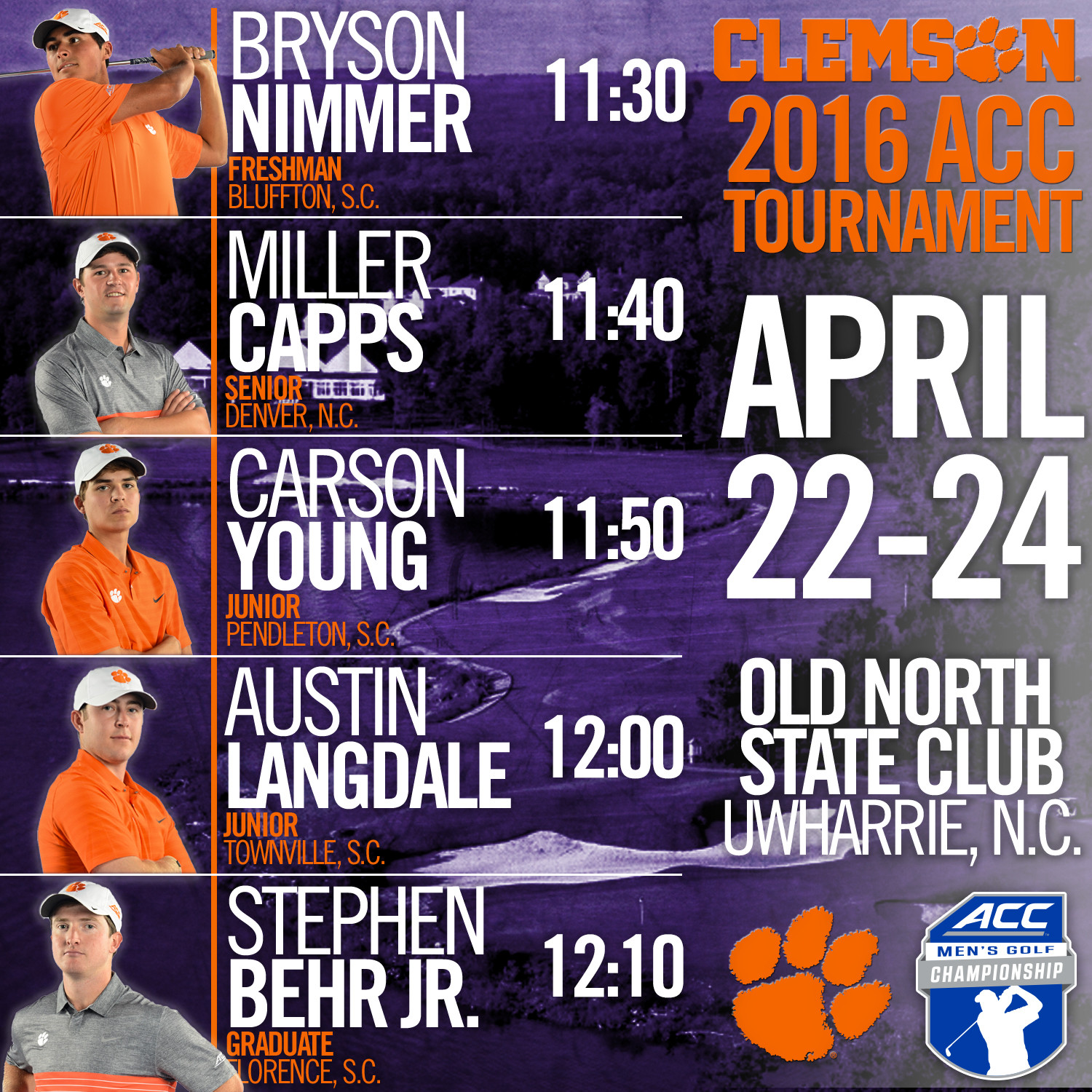 Clemson Heads to ACC Tournament