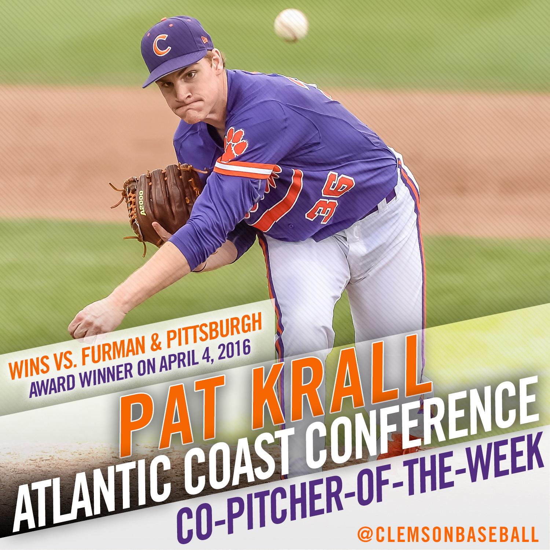 Krall Named ACC Co-POTW