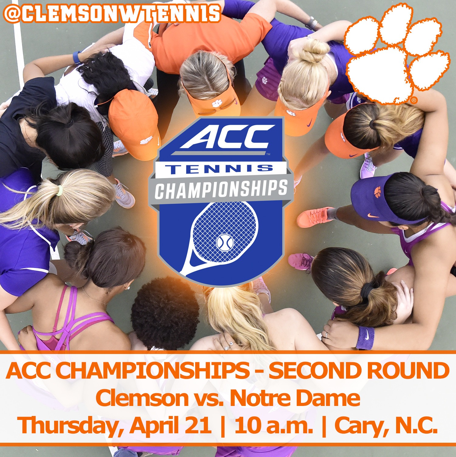 Clemson Faces Notre Dame in ACC Second Round Thursday