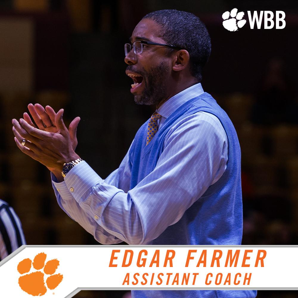 Edgar Farmer Joins Clemson Women?s Basketball Staff