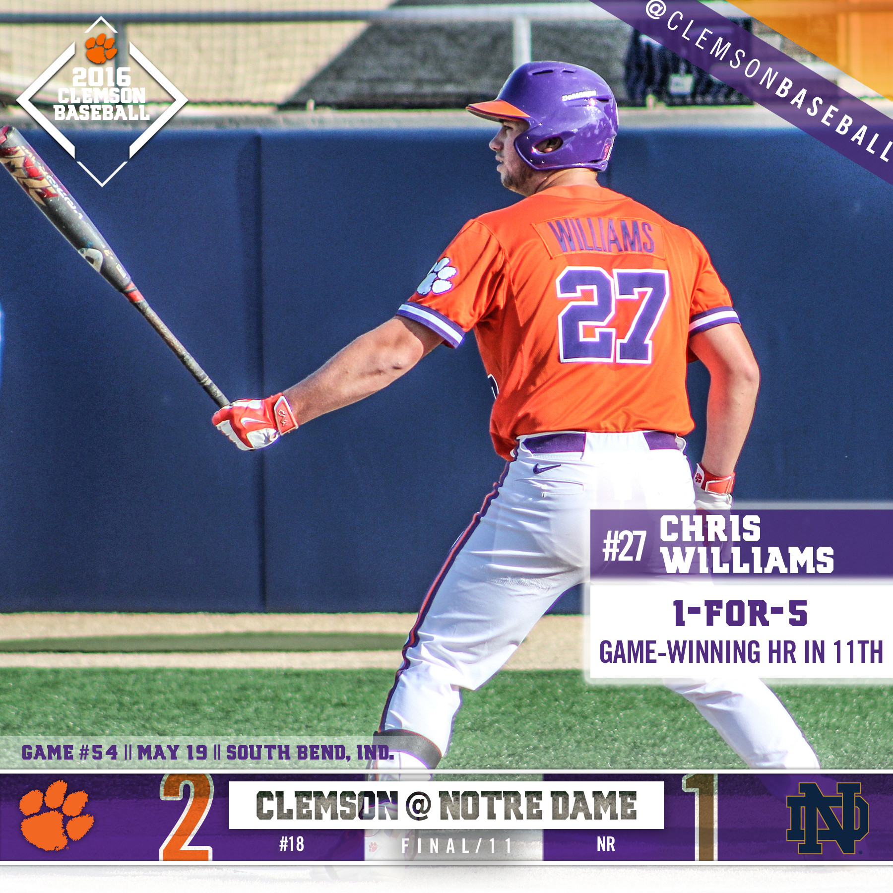 No. 18 Tigers Top ND 2-1 in 11
