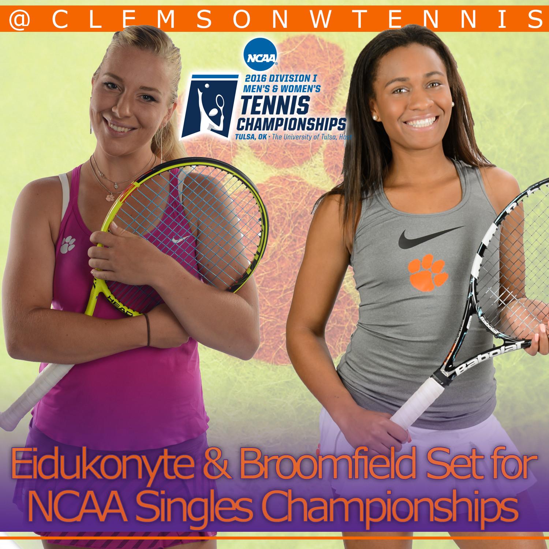 Broomfield & Eidukonyte Open NCAA Singles Play Wednesday