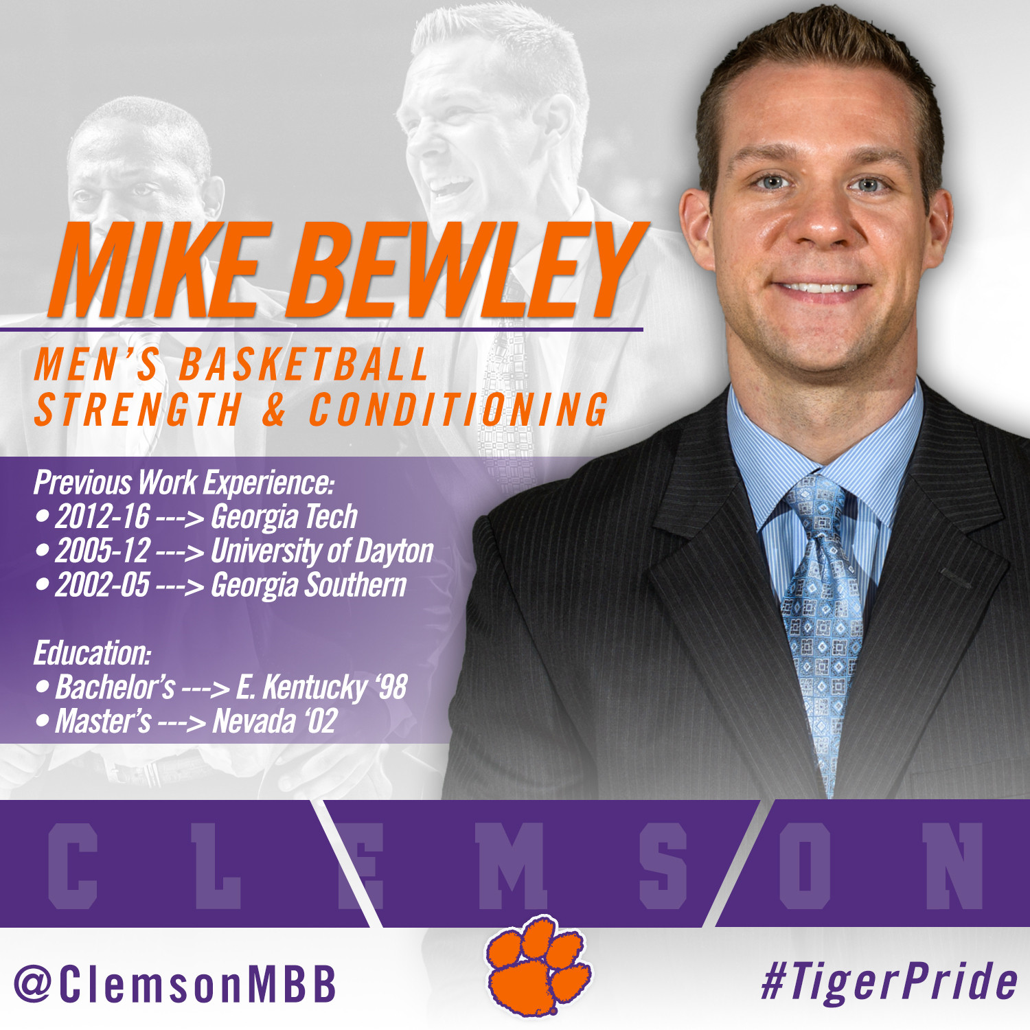Bewley, Crowe Named to MBB Support Staff