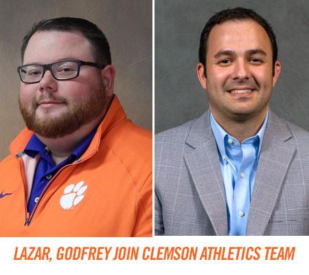 Godfrey, Lazar Join Clemson Athletics Team