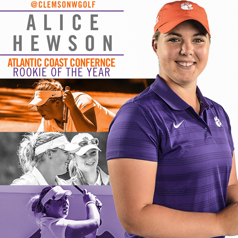 Hewson Named ACC Freshman of the Year