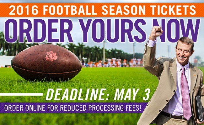 2016 Football Season Ticket Orders Due Tomorrow