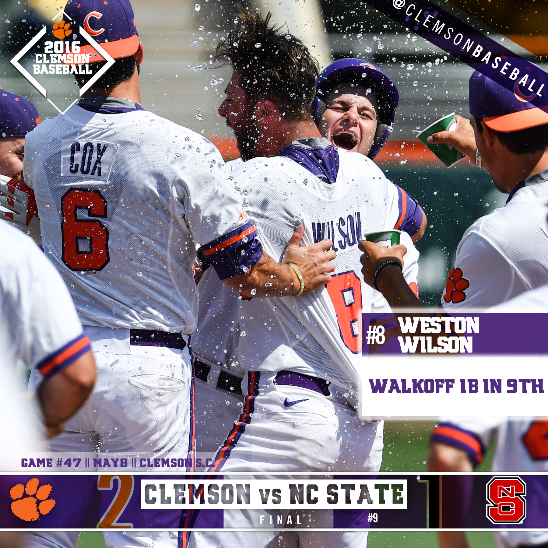 Tigers Edge No. 9 Wolfpack 2-1
