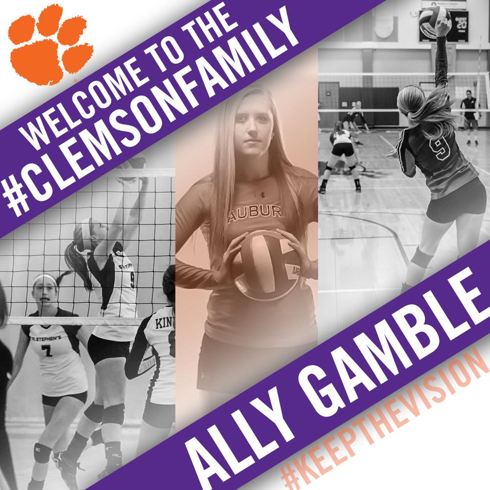 Volleyball Adds Auburn Transfer, Ally Gamble