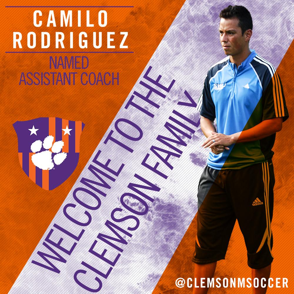 Clemson Names Camilo Rodriguez Assistant Coach