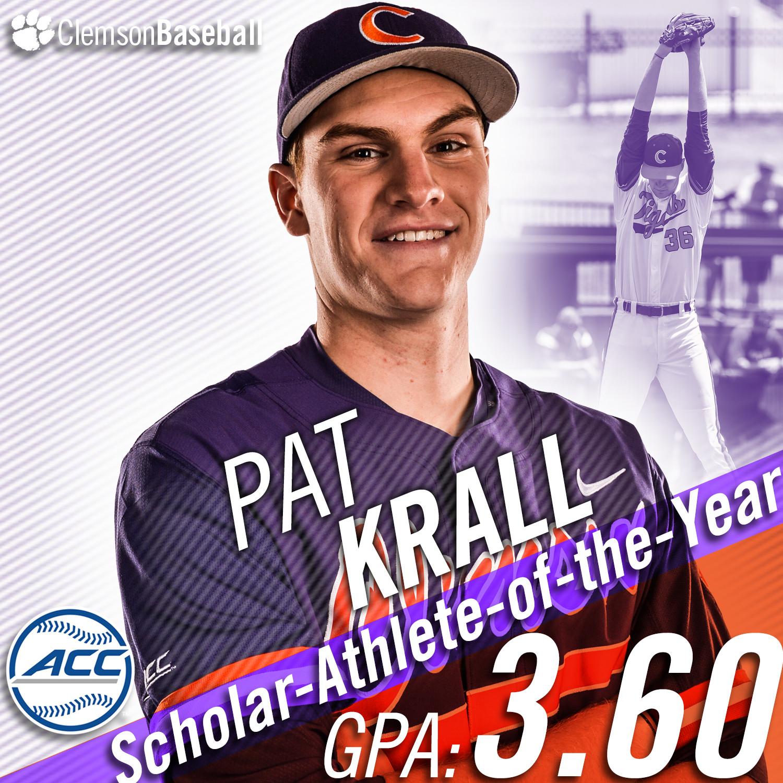 Krall Top ACC Scholar-Athlete