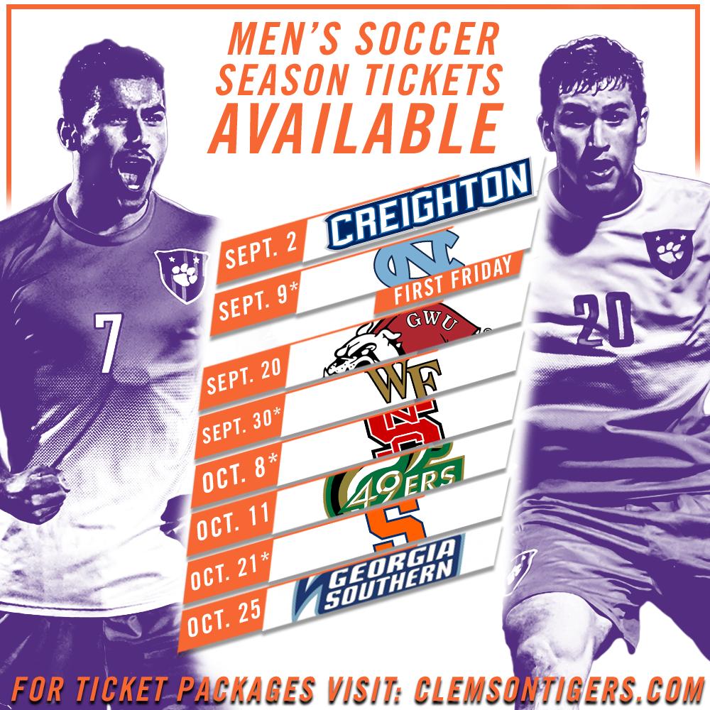 Clemson Men?s Soccer Announces Schedule, Season Tickets on Sale Now