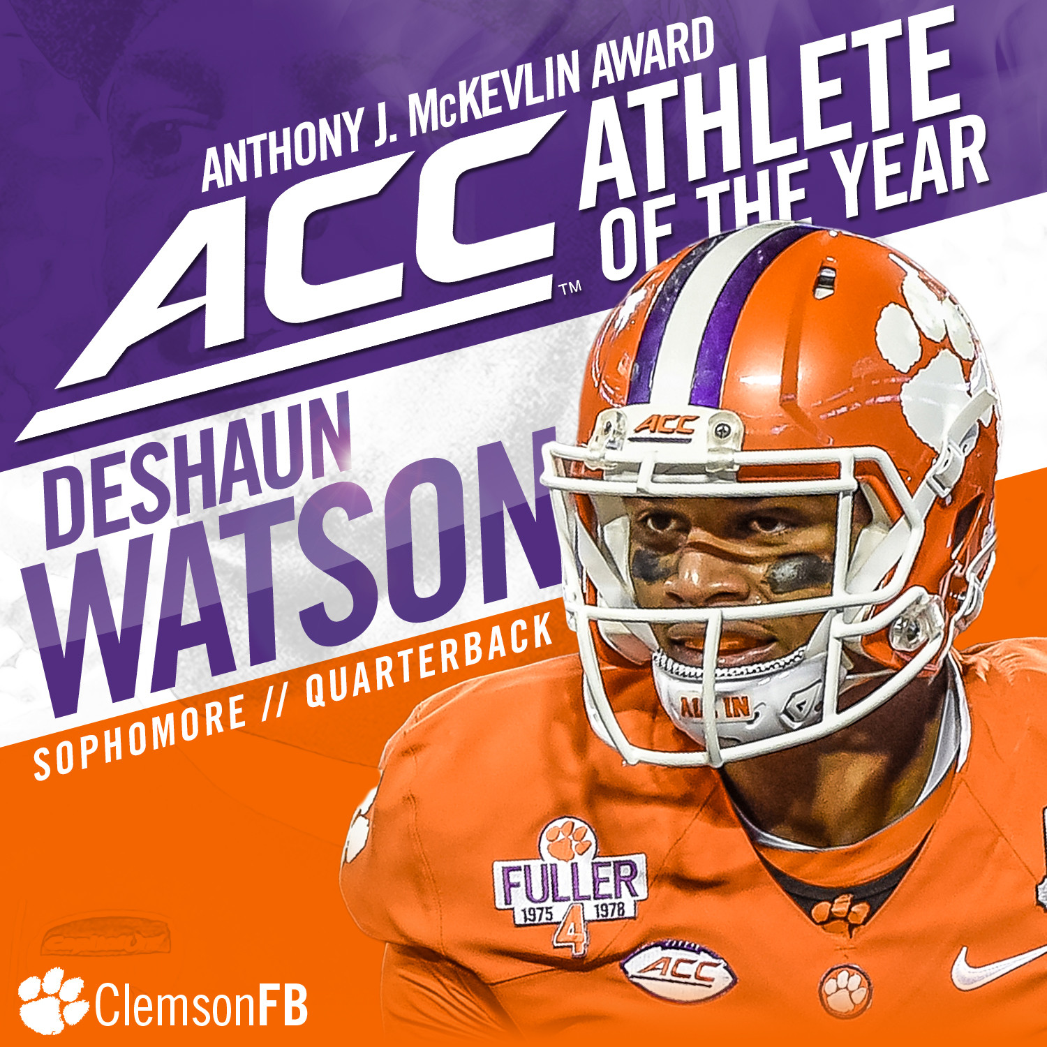 Watson Wins McKevlin Award as ACC Male Athlete of the Year
