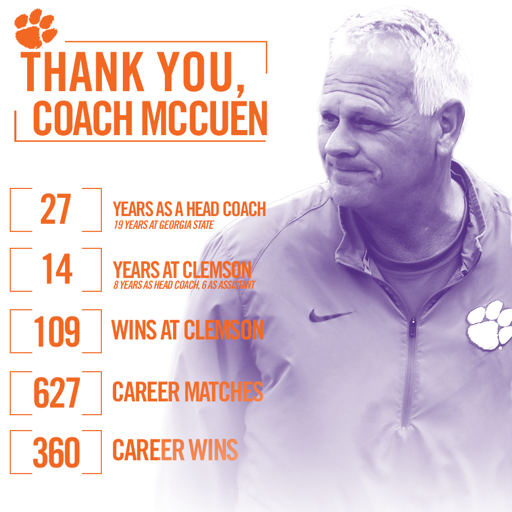 Letter to the #ClemsonFamily from Chuck McCuen