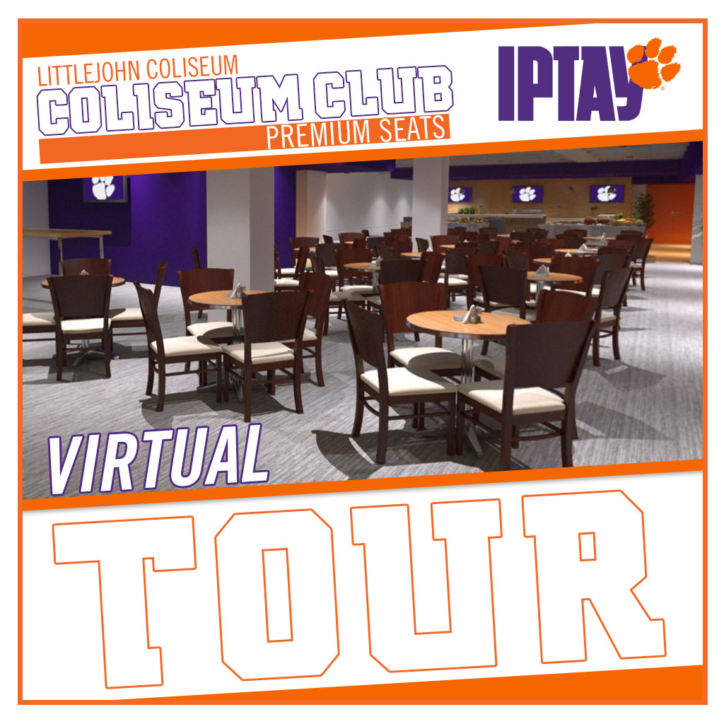 IPTAY Launches Virtual Tour of the New Coliseum Club