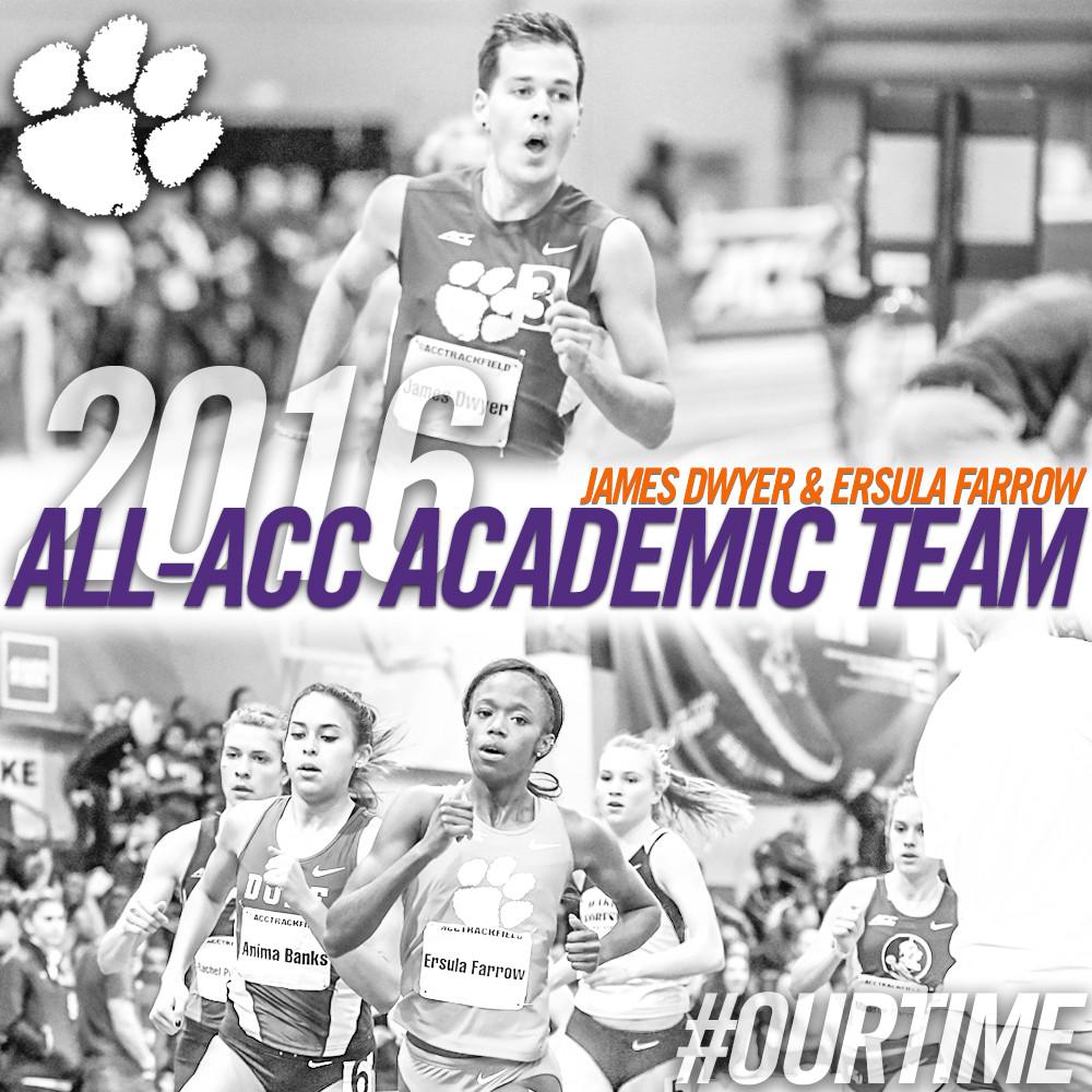 Dwyer, Farrow Named All-ACC Academic