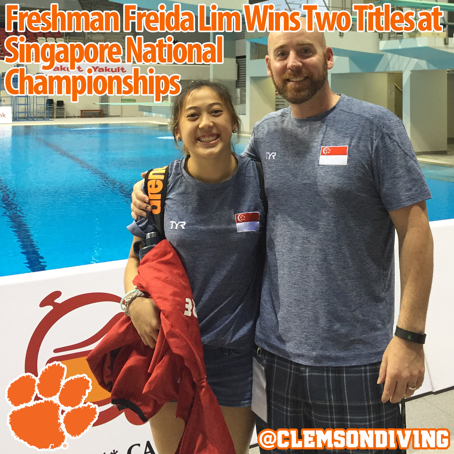 Freshman Freida Lim Wins Two Gold Medals at Singapore National Diving Championships