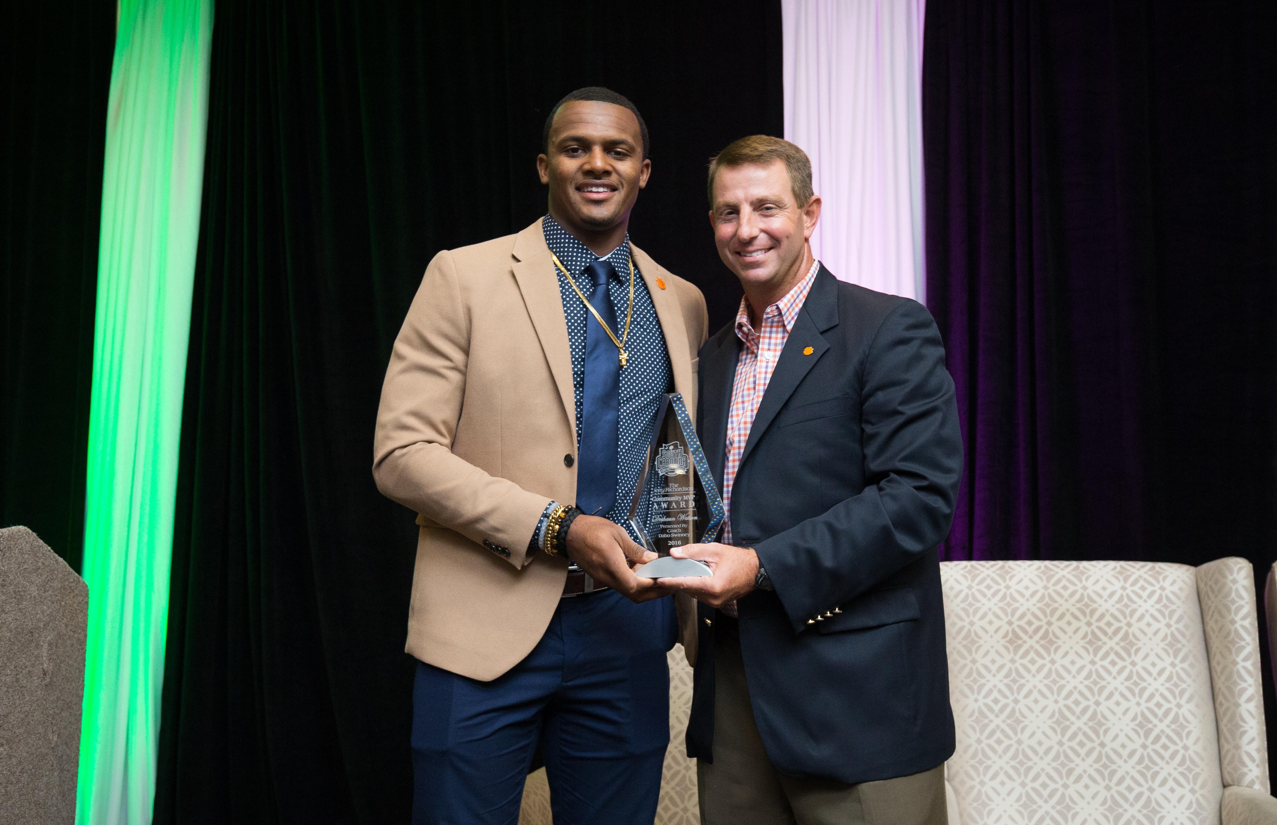 Watson Recipient of Jerry Richardson Community MVP Award
