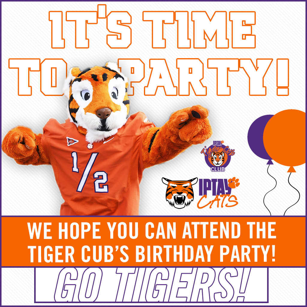 It's Time To Party! The Tiger Cub's Birthday Party Is Set For Saturday, September 17